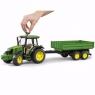Трактор Bruder John Deere 5115M с прицепом 02108