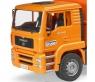 Мусоровоз Bruder Man Tga Оранжевый 02760