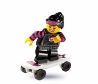 Минифигурка 6-й выпуск Девочка на скейтборде