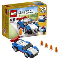 Синий гоночный автомобиль
