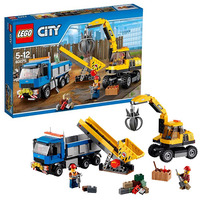 Экскаватор и грузовик Lego City 60075