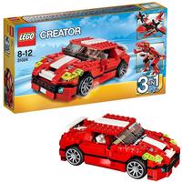 Красный мощный автомобиль