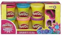 Play-Doh Набор пластилина Блестящая коллекция 6 баночки A5417
