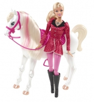 Кукла Barbie Барби и пони Y6858