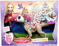 Игровой набор Ever After High Эппл Уайт с драконом DKM76