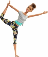 Кукла Barbie Безграничные движения Йога Шатенка FTG82