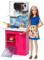 Кукла Barbie Набор мебели Кухня DVX54