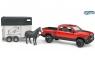 Пикап Bruder RAM 2500 c коневозкой и одной лошадкой 02501