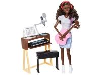 Игровой набор Кукла афроамериканка Barbie Музыкант FCP74