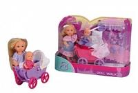 Кукла Simba Эви с коляской, малышом и аксессуарами 10 5736241