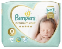 Подгузники Pampers Premium Care 0 Newborn (1,5-2,5 кг) 30 шт