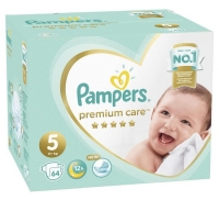 Подгузники Pampers Premium Care 5 Junior (11+ кг), 64 шт