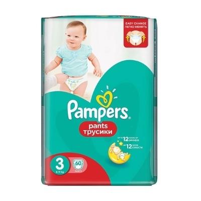 a053c04094da Подгузники-трусики Pampers Pants 3 Midi (6-11 кг), 60 шт купить в ...