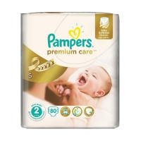 Подгузники Pampers Premium Care Mini 2 (3-6 кг), 80 шт