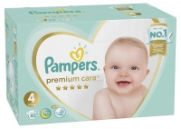 Подгузники Pampers Premium Care 4 Maxi (9-14 кг), 82 шт