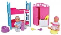 Кукла Simba 10 5036610 Два пупсика в детской спальне
