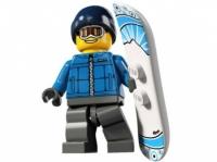 Минифигурка 5-й выпуск Сноубордист
