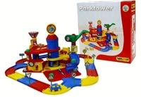 Паркинг 3-уровневый Parktower с дорогой и автомобилями (в коробке) Полесье арт. 37862