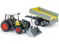 Трактор с прицепом и погрузчиком Bruder Claas Nectis 267 F 01998