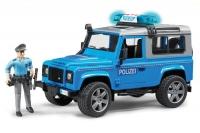 Полицейский джип Bruder Land Rover Defender Station Wagonс фигуркой 02597