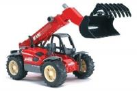 Bruder Погрузчик колёсный Manitou MLT 633 с ковшом 02125 Брудер
