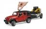Bruder Внедорожник Jeep Wrangler с мини погрузчиком 02925 Брудер