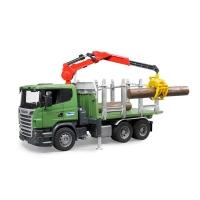 Bruder Лесовоз Scania с краном и брёвнами 03524 Брудер