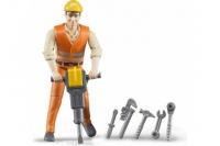 Фигурка строителя с аксессуарами Bruder 60020