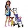 Кукла Barbie Няня с аксессуарами FJB00