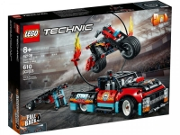 Lego Technic 42106 Грузовик и мотоцикл для каскадеров Лего Техник