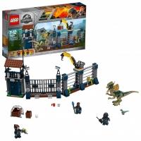 Лего Юрский период Нападение дилофозавра на сторожевой пост Lego Jurassic World 75931