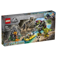 Лего Юрский период Бой тираннозавра и робота Дино Lego Jurassic World 75938