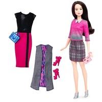 Кукла Барби  Игра с модой Barbie Fashionistas с набором одежды DTD99