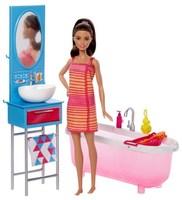 Кукла Barbie Набор мебели Ванная комната DVX53