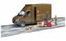 Машинка логистический фургон с погрузчиком Bruder Mercedes Benz Sprinter 02538