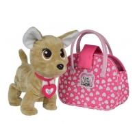 Собачка Chi Chi Love интерактивная Счастливчик с сумочкой