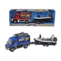 Детская игрушка Dickie Автомобиль Спасатель с катером 20 331 4867