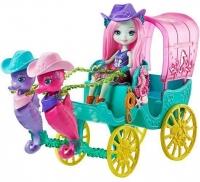 Набор Enchantimals Карета с куклой Санделла Морской конек FKV61