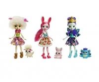 Набор кукол Энчантималс Бри Кролик, Лорна Барашка и Пэттер Павлина FMG18