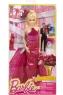 Кукла Barbie в вечернем бордовом платье CHH05