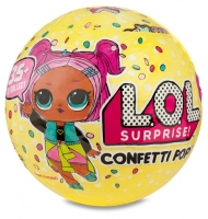 Кукла LOL Surprise Confetti Pop в шарике 3 серия ЛОЛ Сюрприз