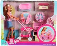 Кукла Simba Штеффи с малышом, мебелью и аксессуарами 10 5730861