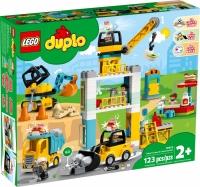 Lego Duplo Башенный кран на стройке Лего Дупло 10933