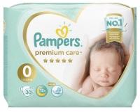 Подгузники Pampers Premium Care 0 Newborn (1,5-2,5 кг) 30 шт