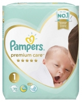 Подгузники Pampers Premium Care 1 Newborn (2-5 кг) 72 шт