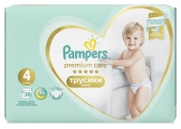Подгузники-трусики Pampers Premium Care Pants 4 Maxi (9-15 кг), 38 шт
