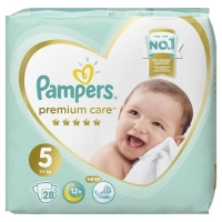 Подгузники Pampers Premium Care 5 Junior (11+ кг), 28 шт