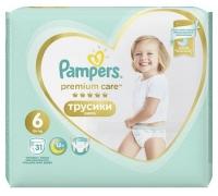 Подгузники-трусики Pampers Premium Care Pants 6 Extra Large (15+ кг), 31 шт
