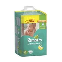 Подгузники Pampers Active Baby-Dry Midi 3 (5-9 кг), 152 шт