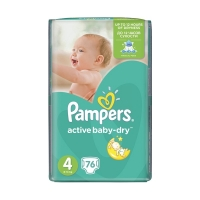 Подгузники Pampers Active Baby-Dry Maxi 4 (8-14 кг), 76 шт